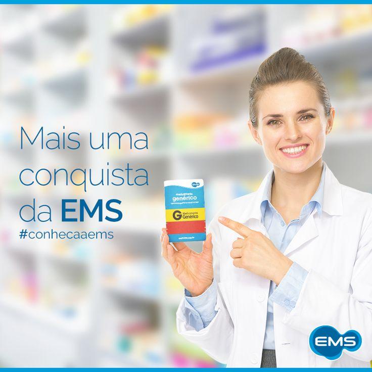 Você sabia que, com cerca de 500 apresentações de produtos genéricos, a EMS possui o maior portfólio do Brasil? Entre esses produtos estão anti-inflamatórios, analgésicos, antibióticos, antiulcerosos, anti-hipertensivos, anti-helmínticos, antidiabéticos, corticóides tópicos e antigripais! #conheçaaEMS