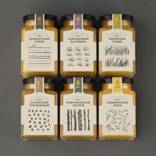 Cute Honey Packaging combines Honey with Berries