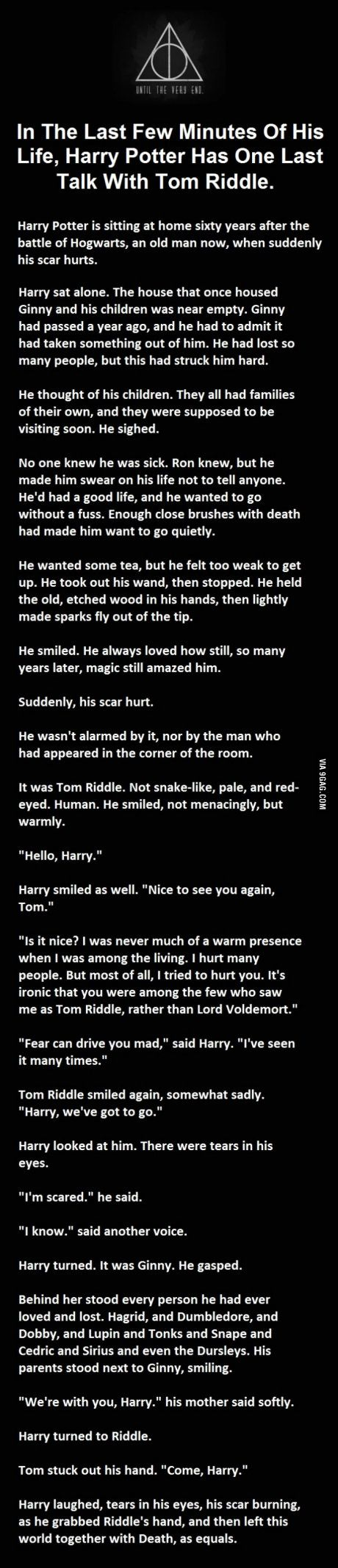 Having some HP feels right now. Lie down...Try not to cry...cry a lot.