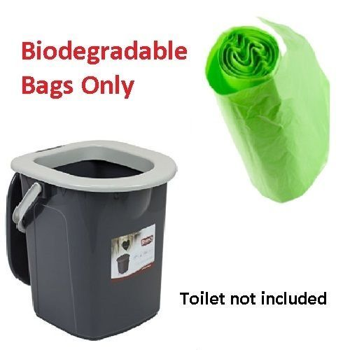 Portable Commode Toilet Composting Biodegradable Bags for 22L BranQ Allotment