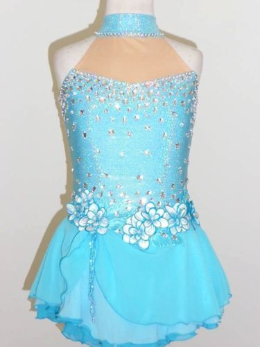 CUSTOM MADE TO FIT BEAUTIFUL & GORGEOUS ICE SKATING DRESS
