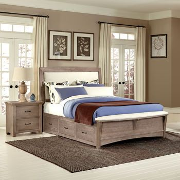 Chambers Queen Upholstered Storage Bench Bed 1100 Costco Master Bedroom Pinterest