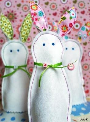 Hasen-Eierwärmer aus Filz (Schablone muss mit Nahtzugabe ausgeschnitten werden, sonst passt der Hase nicht über das Ei!)