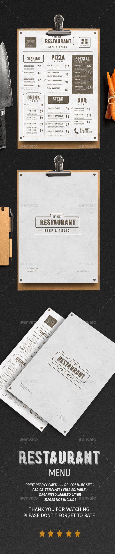 Vintage Menu Vol. 3 - Food Menus Print Templates