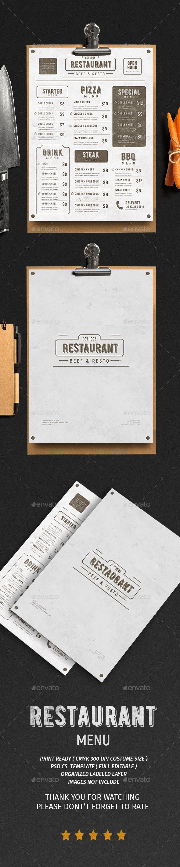Vintage Menu Vol. 3 - Food Menus Print Templates Download here : https://graphicriver.net/item/vintage-menu-vol-3/19422081?s_rank=3&ref=Al-fatih