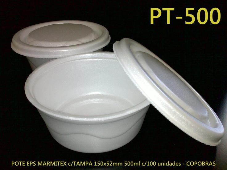Marmitex isopor EPS Copobras 500ml.