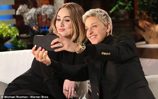 Selfie time: Ellen and Adele took a selfie together