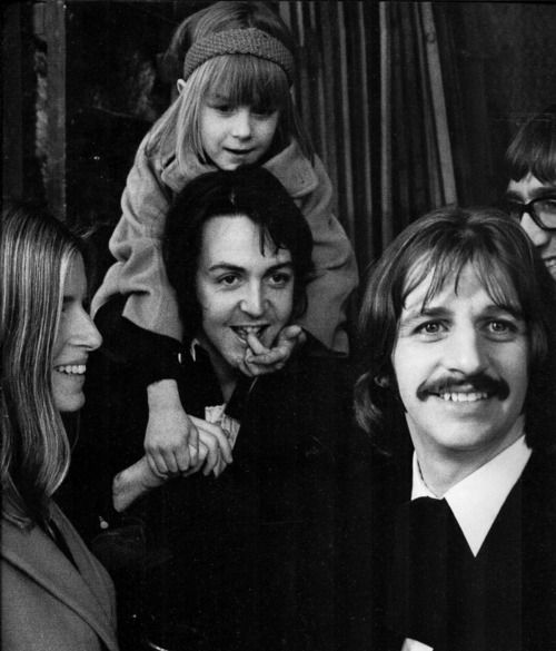 Paul, Linda and Heather with Ringo, 1969