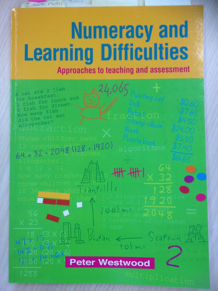 An easy, must read, to understand Numeracy Learning Difficulties. Anthing by Peter Westwood is good!