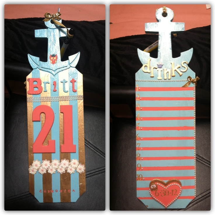 Sorority Paddle I made my big sister for her 21st birthday.  Chi Omega!