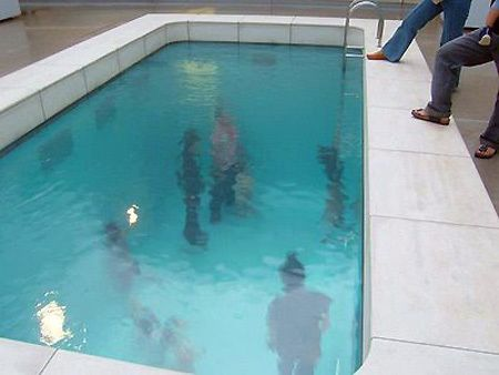 i would prefer a real pool. rather than an empty room under a few inches of water.   room under a fake pool. Neat-O