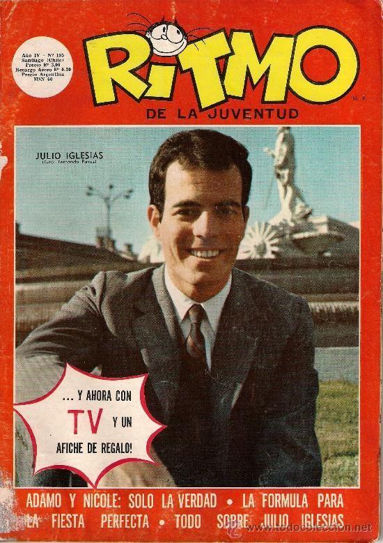 JULIO IGLESIAS portada revista chilena RITMO 1969 (Música - Revistas, Manuales y Cursos)