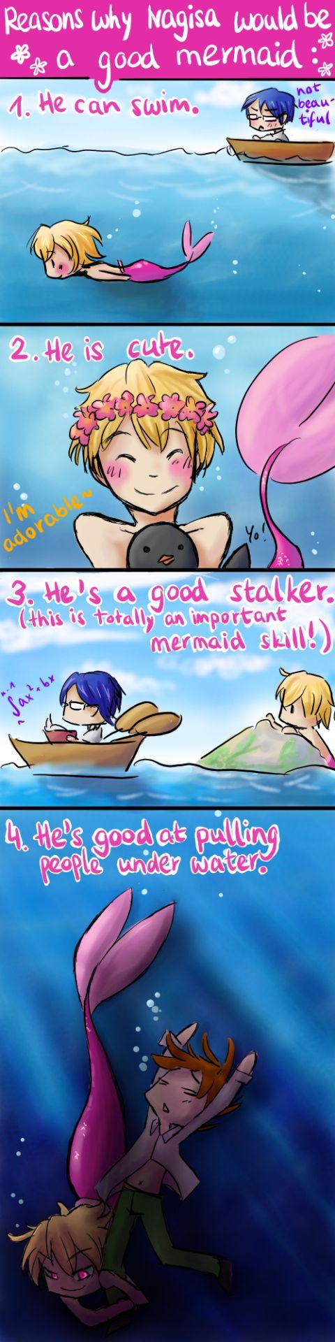 Reasons why Nagisa would be the best mermaid