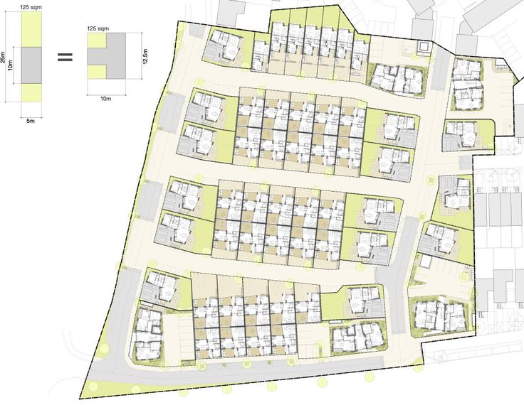 Alison Brooks Architects _ Newhall Be _ Harlow Essex _ Masterplan _ Courtyard…