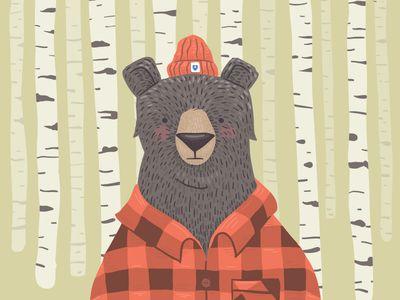 Dropbox Bear by Ryan Putnam - so cute!