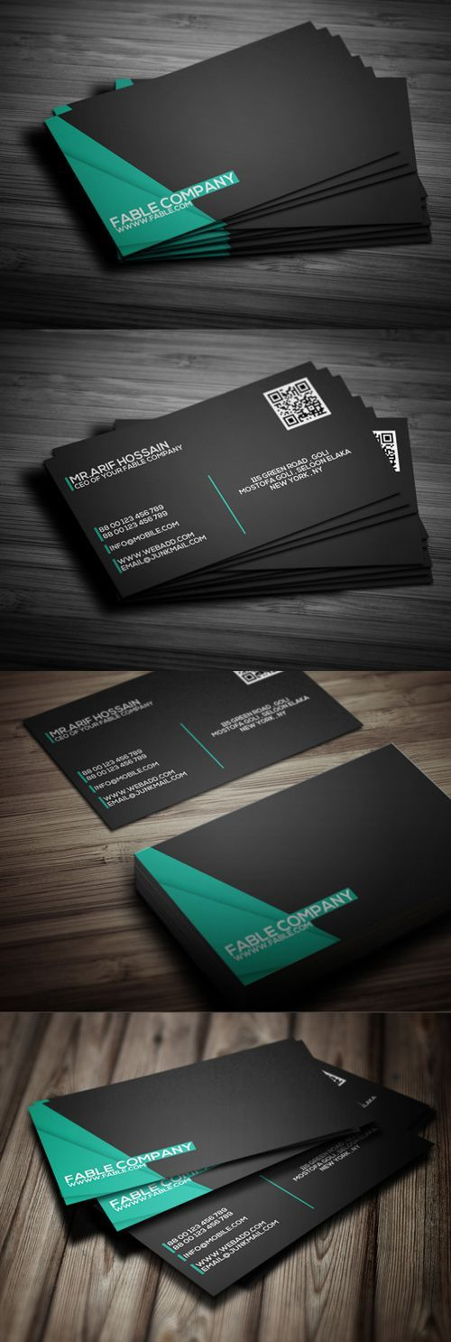 Corporate Business Card Design #businesscards #psdtemplates #printready