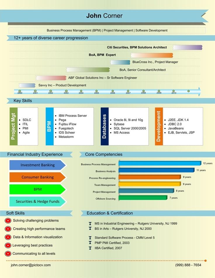 8 best visual resume images on pinterest