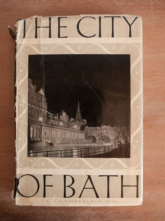 Vintage book: 'The City of Bath' by V C by freshdarling on Etsy