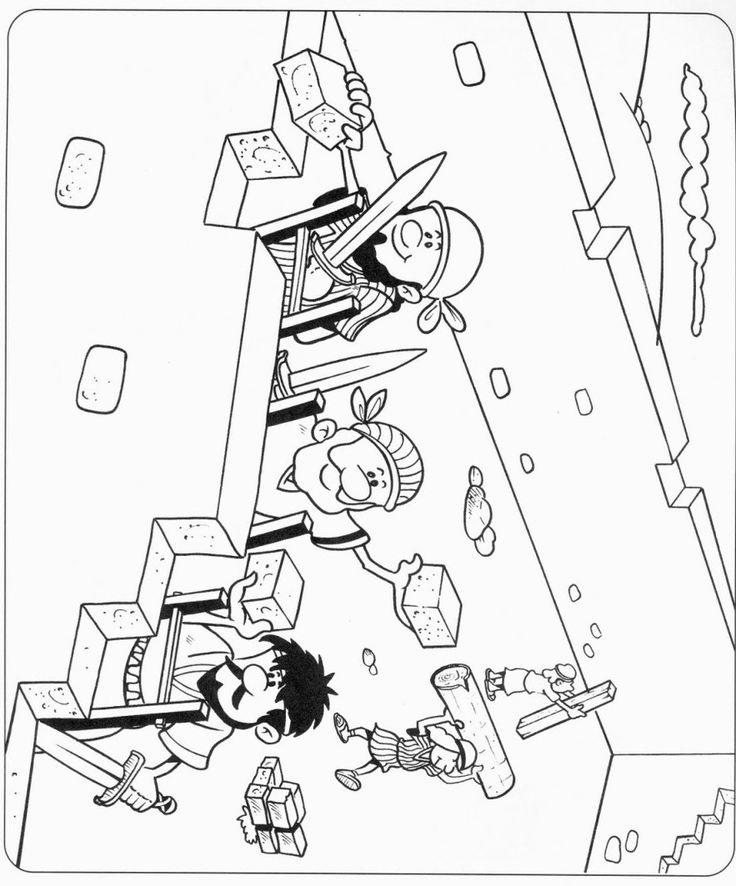 Rebuilding Temple Coloring Page Sketch Coloring Page