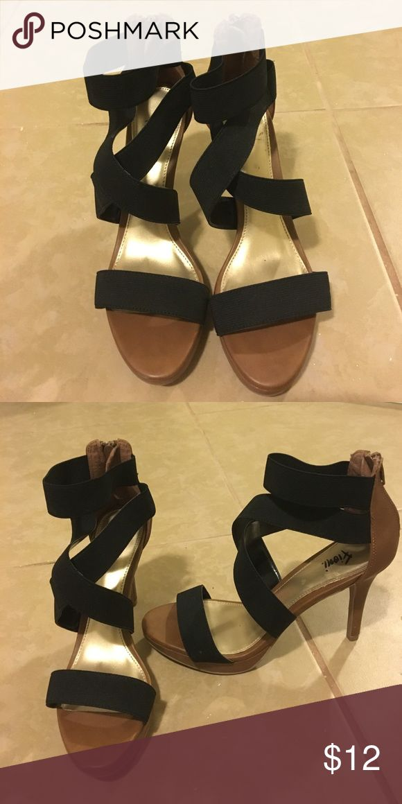 Strappy Heels Black and brown strappy heels Shoes Heels