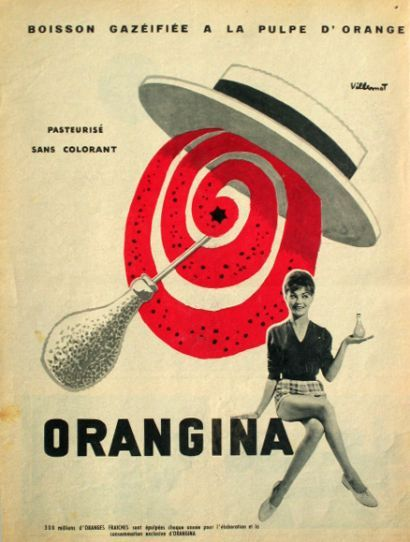 Premières affiches Orangina - 1935-1936 de R. Feuillie ……re pinned by Maurie Daboux ♪ ♪