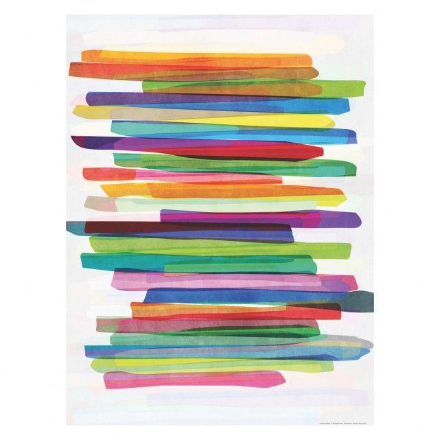 COLOURFUL STRIPES 60 x 80 cm Print by Mareike Bohmer