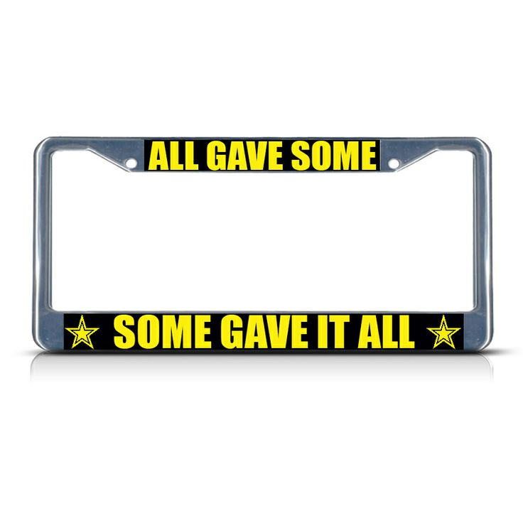 license plate frame mall all gave some some gave it all chrome heavy duty metal