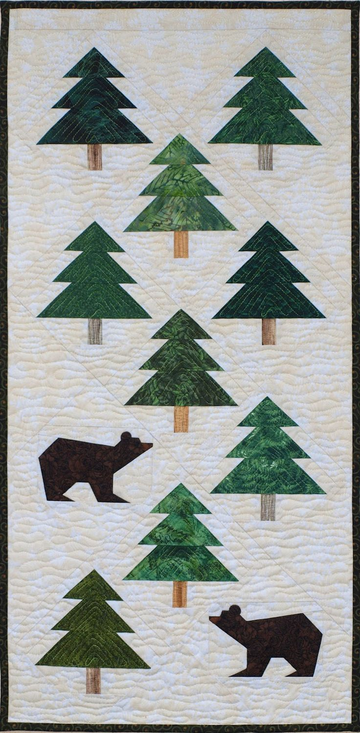 Bear in the Woods quilt design and quilting by Sampaguita Quilts: From Belair to Yosemite