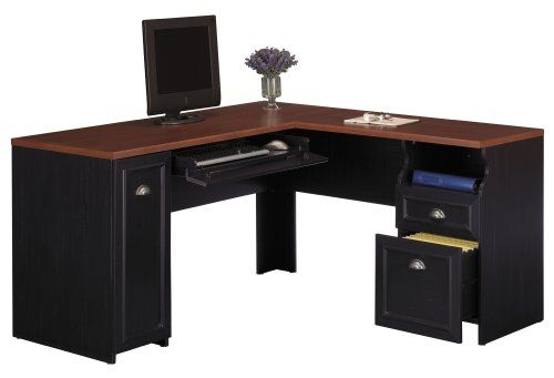 Fairview collection 60 inch l desk bush furniture - Desk for a small space collection ...
