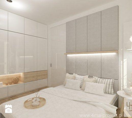 Projekt mieszkania w Pruszkowie - pow. 52,5 m2. - Sypialnia, styl nowoczesny - zdjęcie od 4ma projekt