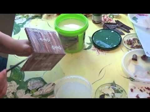 Мастер класс. Декорирование книги-шкатулки. Выступление на конференции Котомания - YouTube