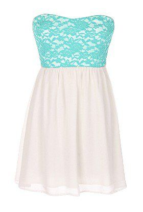 The Strapless Lace Mint Dress - 29 N Under on Wanelo