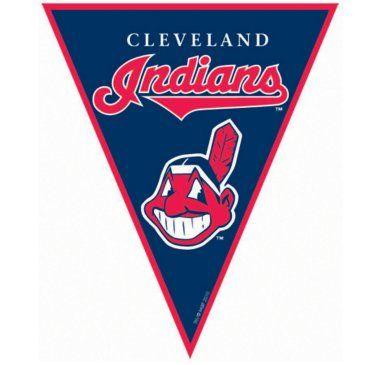 Cleveland+Indians+Baseball+Pennant+Banner