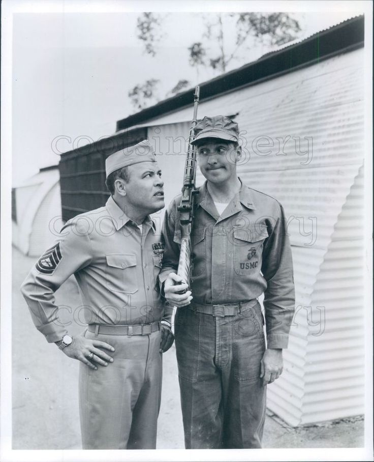 Press Photo Actors Frank Sutton & Jim Nabors Gomer Pyle TV Show