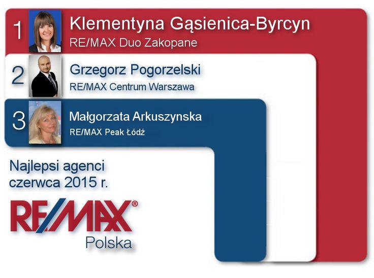 Agenci czerwca 2015 RE/MAX Polska