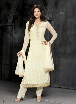Amazing Peach Viscose Embroidery Work With Border  Pakistani Suit http://www.angelnx.com/Salwar-Kameez
