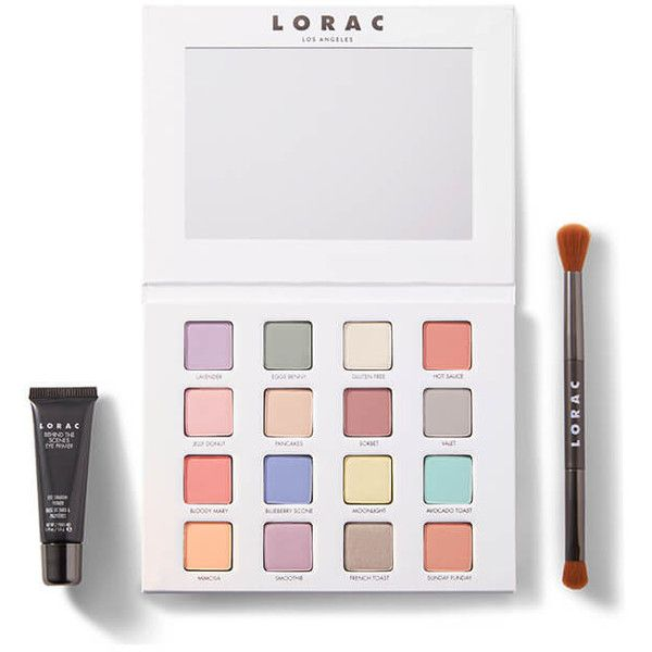 I <3 Brunch Pro Eyeshadow Palette   LORAC Cosmetics ($44) ❤ liked on Polyvore featuring beauty products, makeup, eye makeup, eyeshadow, lorac eye shadow, palette eyeshadow, lorac eyeshadow and lorac