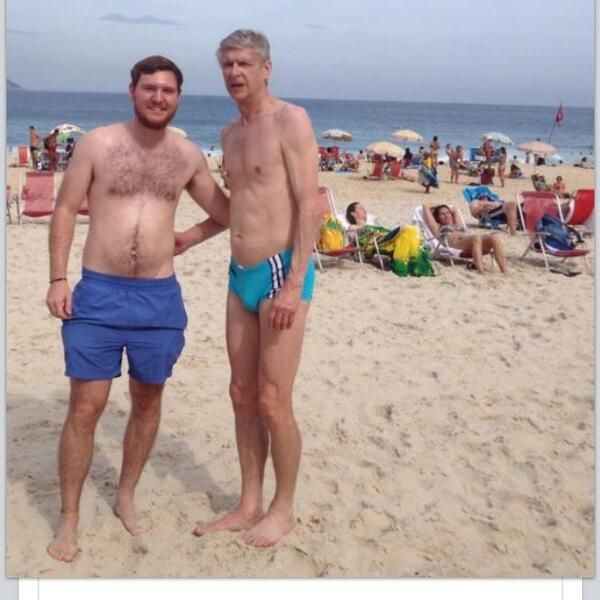 Caption This: Just Arsène Wenger wearing Speedos on Brazil beach