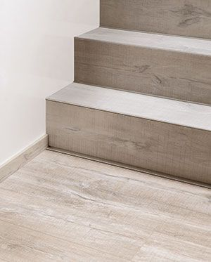 Vinyl flooring on a staircase