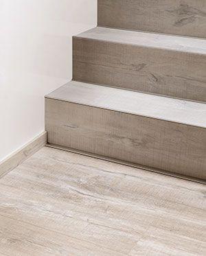 Vinyl flooring on a staircase