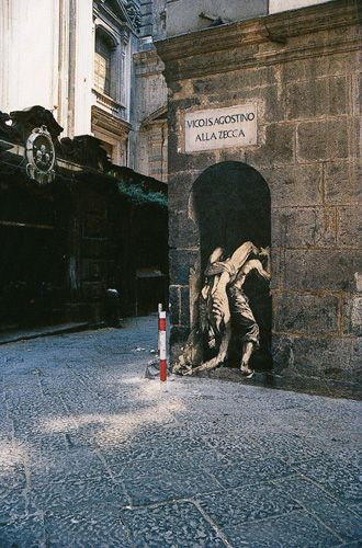One of the original French street artists beginning from the 1970's - Ernest Pignon Ernest - whose work can be found across Europe and Middle East