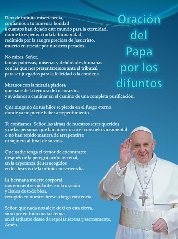 oracion del papa por los difuntos                                                                                                                                                                                 Más