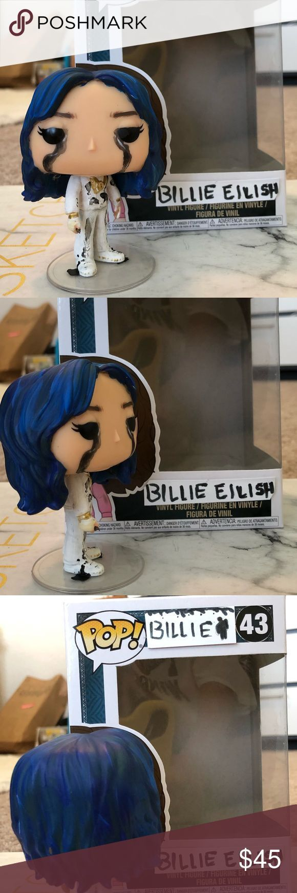 Billie Eilish Custom Funko Billie Disney Vilões Figura De Vinil
