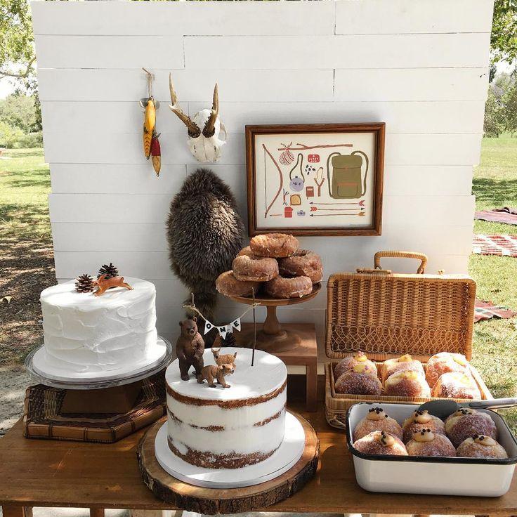 camping theme: woodland critters on cakes @woodlark