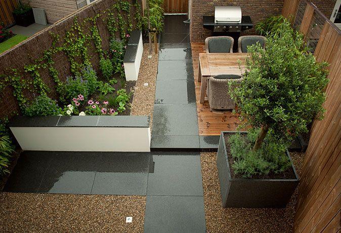 Tuinontwerp kleine tuin met veranda google zoeken tuin for Kleine stadstuin ideeen