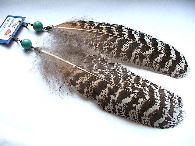 kolczyki etniczne boho hippie etno  - nailart2010 - Kolczyki wiszące