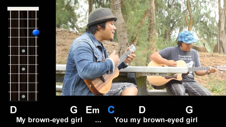 """""""Brown Eyed Girl"""" (Van Morrison) Ukulele Play-Along!   Lots of other songs as well.  Great to practice chords."""