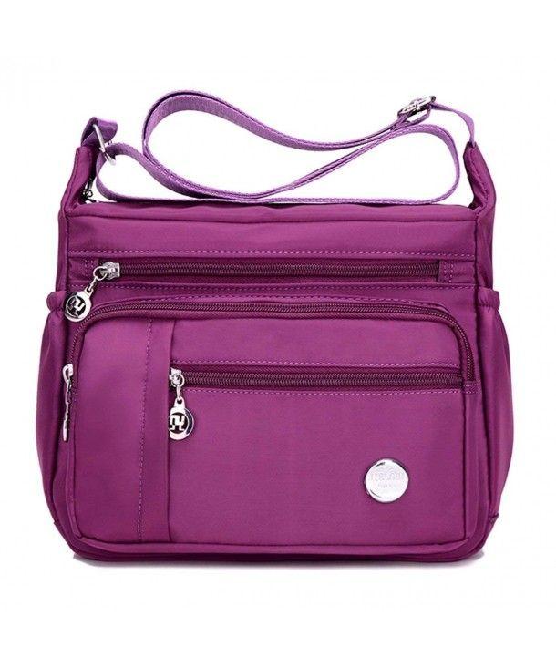 7f3aceaa22b6 Waterproof Nylon Shoulder Crossbody Bags - Handbag Zipper Pocket ...