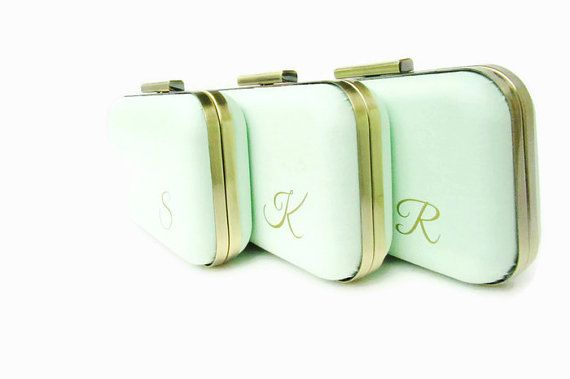 Wedding bags, Mint wedding bags, Mint Bridesmaids, Bridal accessories, mint clutches, gold and mint,
