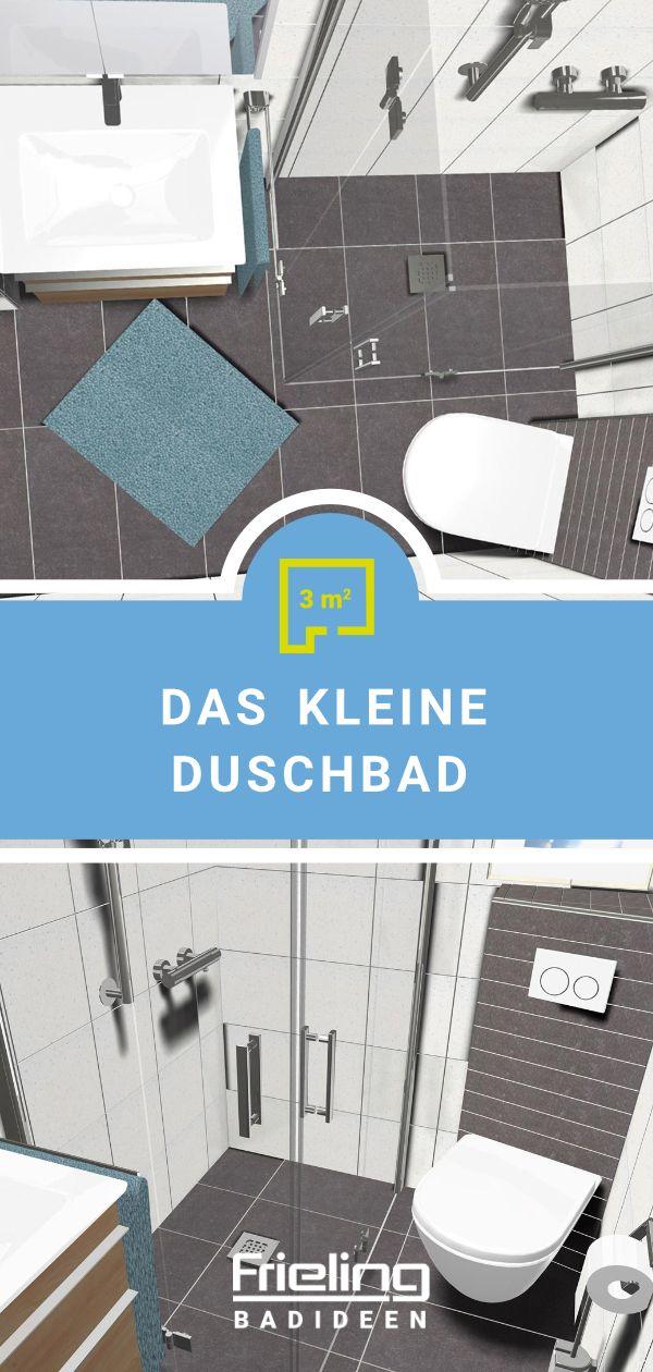 Das Kleine Duschbad 3 Qm Dusche Duschbad Bad Grundriss